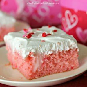 Strawberry Creme Passion Poke Cake! {True Luv}