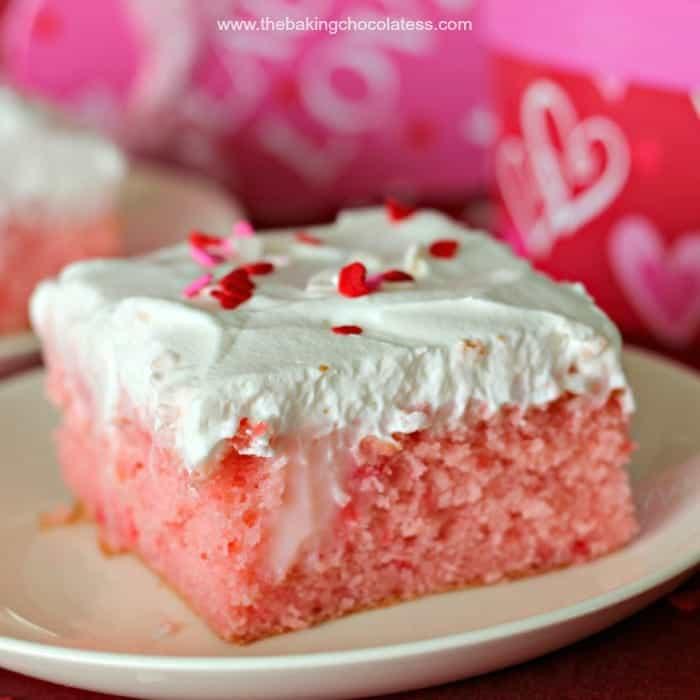 Strawberry Creme Passion Poke Cake!