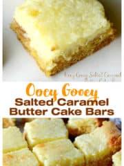 Ooey Gooey Salted Caramel Butter Cake Bars