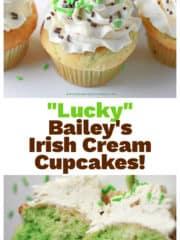 """Lucky"" Bailey's Irish Cream Cupcakes!"