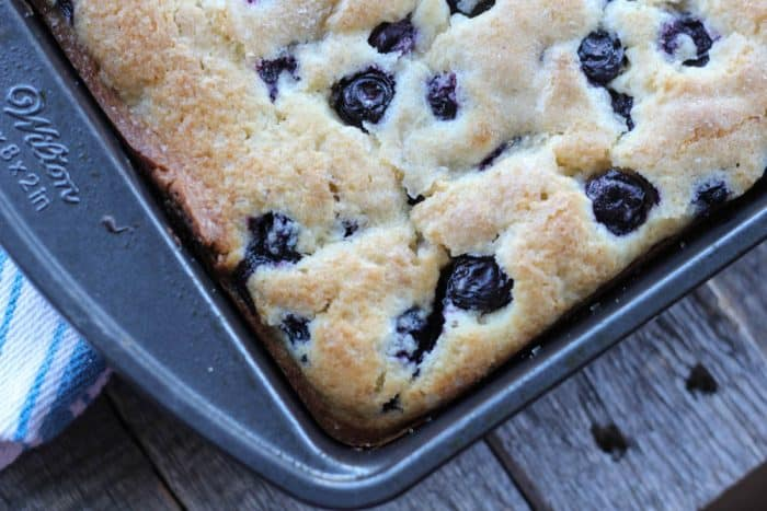 Buttermilk Blueberry Explosion Cake
