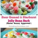 Sour Gummi & Starburst Jelly Bean Bark {Easter Bunny Approved!}