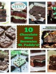 """10 """"Jackpot"""" Chocolate Mint Brownies for St. Paddy's!"""