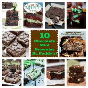 10  Chocolate Mint Brownies for St. Paddy's!
