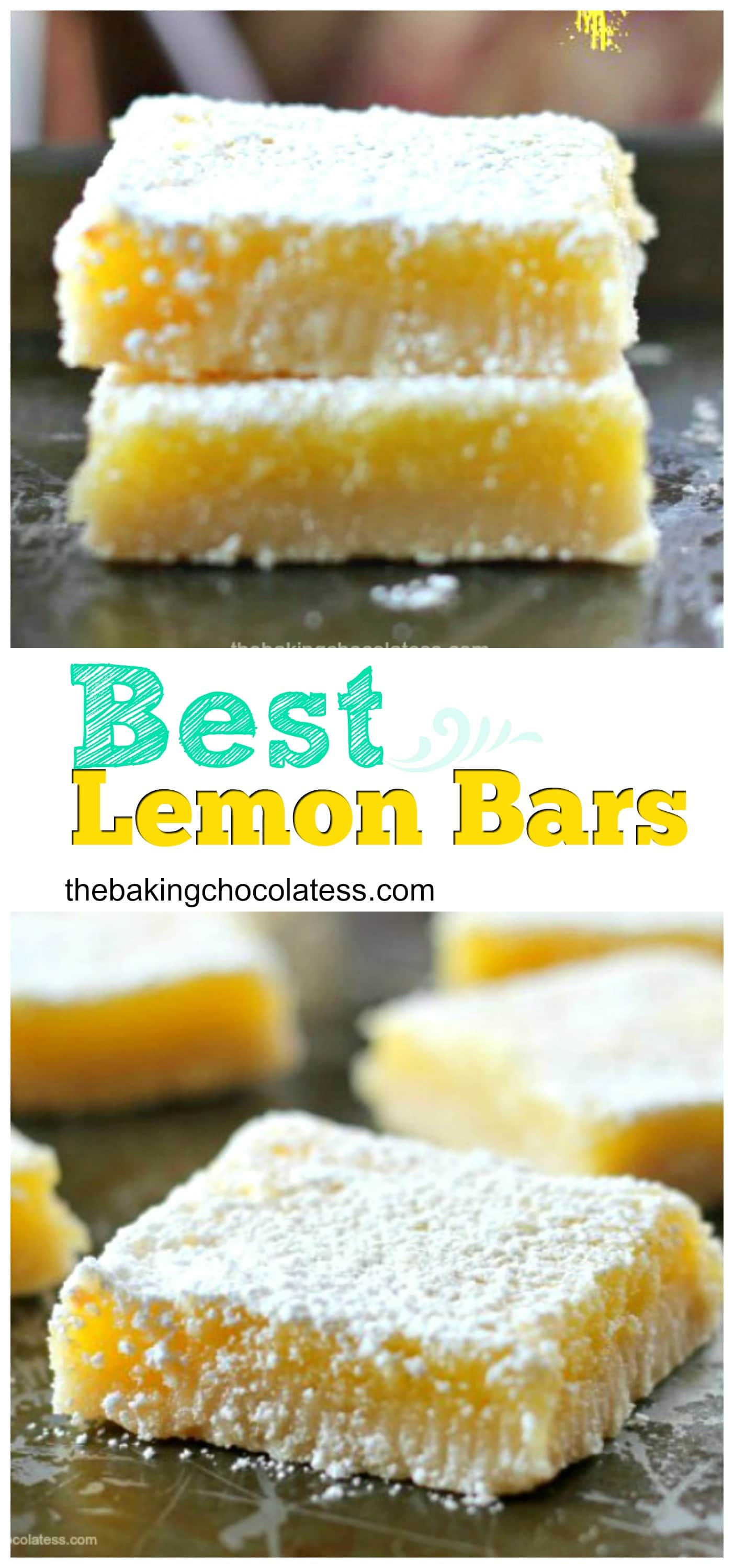 Lemon Bars With Lemon Curd And Cake Mix