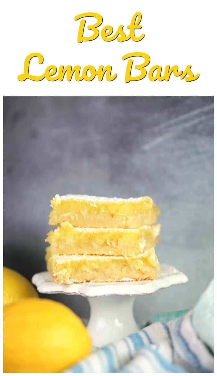 Best Lemon Bars - The rich tartness of the gooey lemon curd filling, the sweetness of the powdered sugar, the flaky buttery shortbread crust…*sigh* They practically