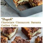 Bisquick Chocolate Cinnamon Greek Yogurt Banana Coffee Cake