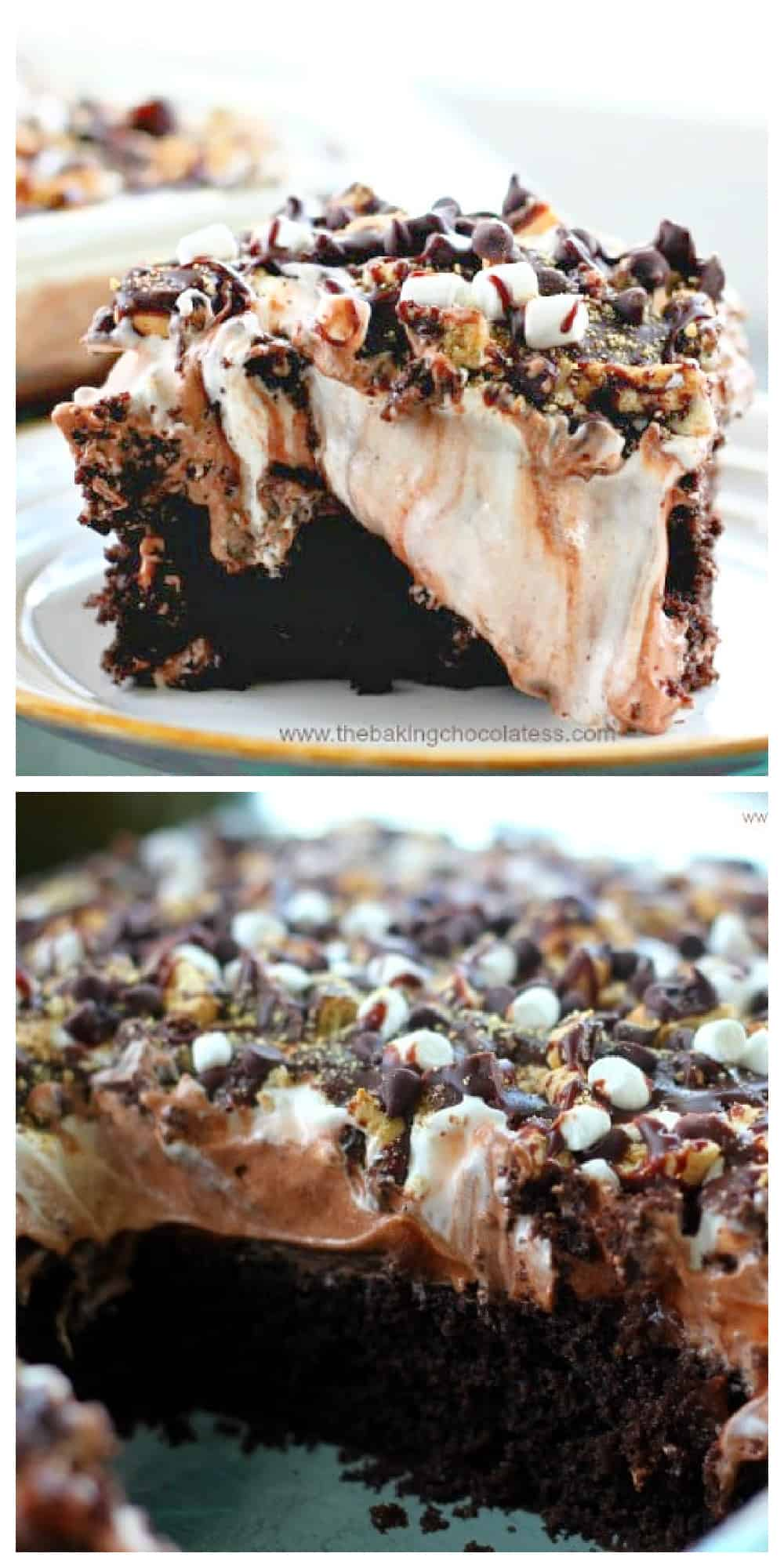 S\'mores Poke Cake