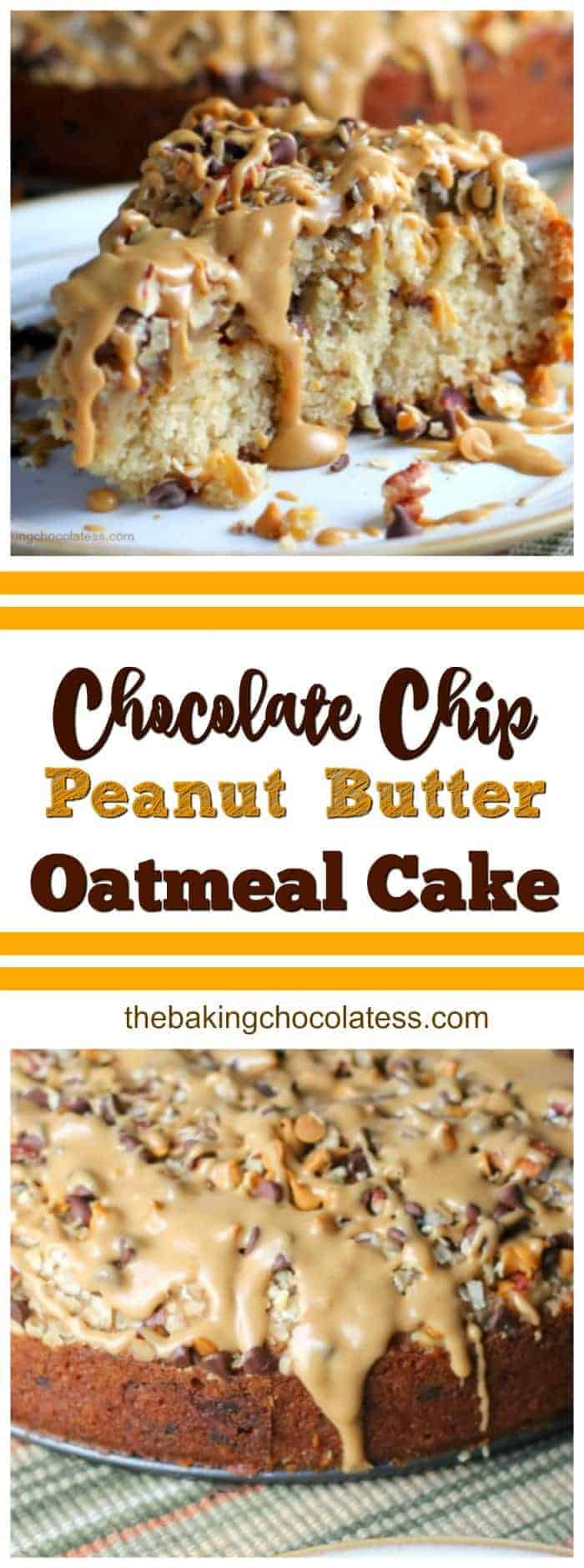 Chocolate Chip & Peanut Butter Oatmeal Cake