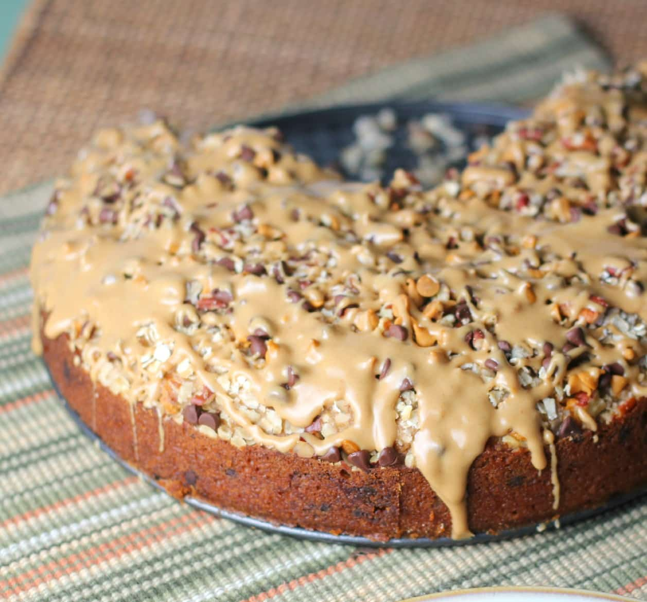 Chocolate Chip and Peanut Butter Oatmeal Cake55