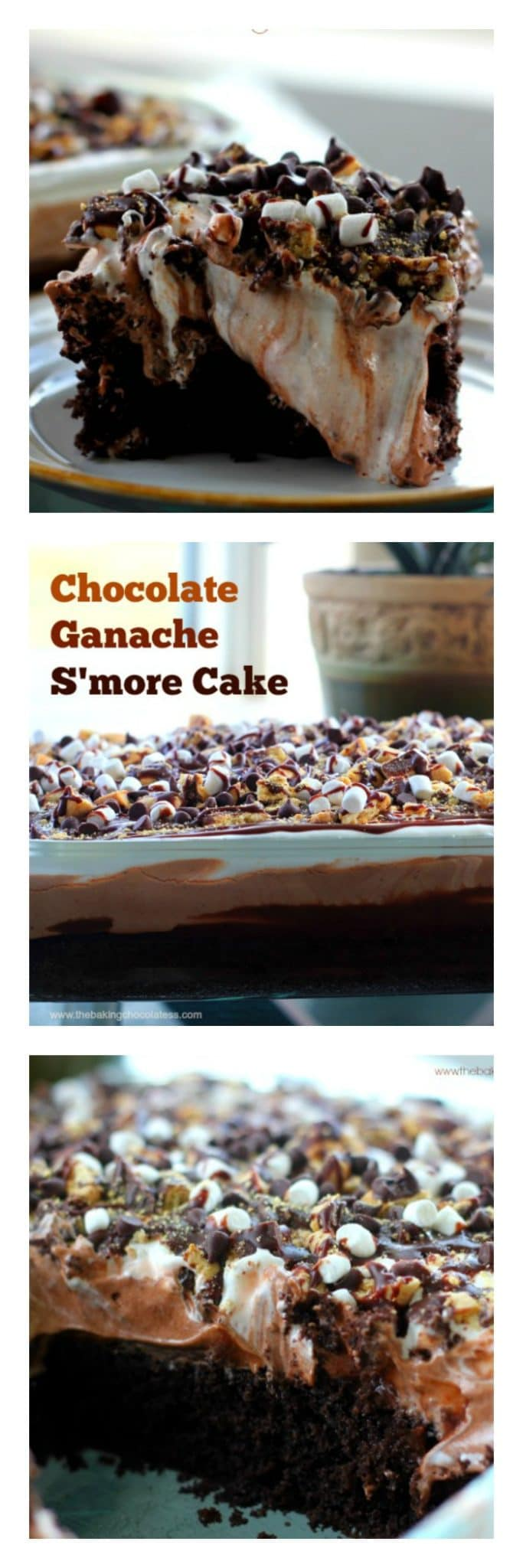Chocolate Ganache S'More Cake
