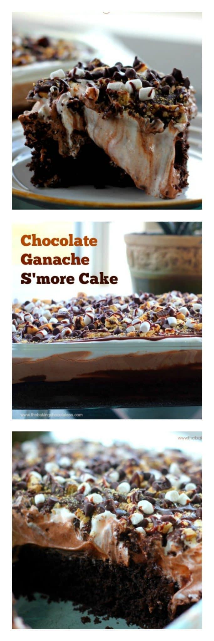 Chocolate Ganache S'More Cake