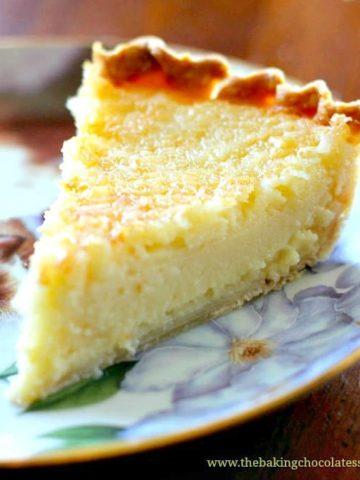 Creamy Lemon Coconut Custard Pie