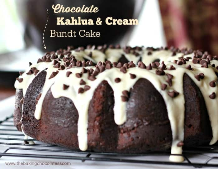 Home-made Chocolate Kahlua & Cream Bundt Cake