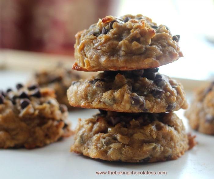 Flourless Banana Oat Chocolate Chip Breakfast Cookies {GF}7