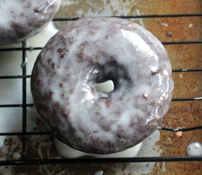Glazed Fluffy Chocolate Donuts
