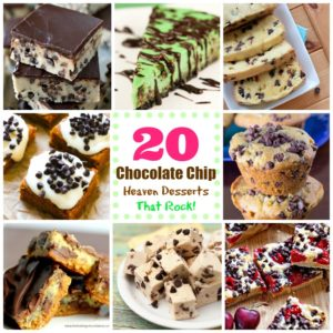 20 Chocolate Chip Heaven Desserts That Rock! #chocolate #chocolate chip #heaven #desserts #roundup