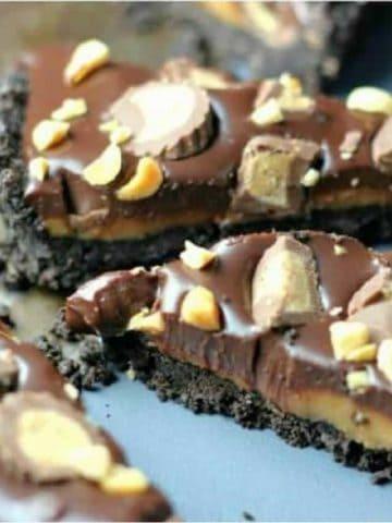Reese's Peanut Butter Chocolate Oreo Tart