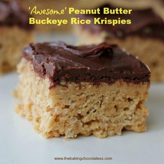 Awesome Peanut Butter Buckeye Rice Krispies