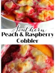 Southern Peach & Raspberry Cobbler