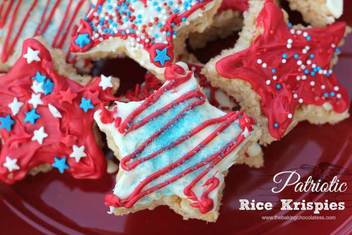 Patriotic Rice Krispies