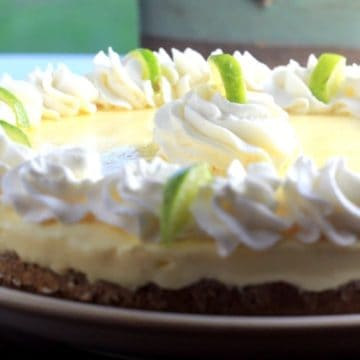 Frozen Key Lime Cream Pie