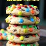 JUMBO 'Soft Batch' M&M Cookies