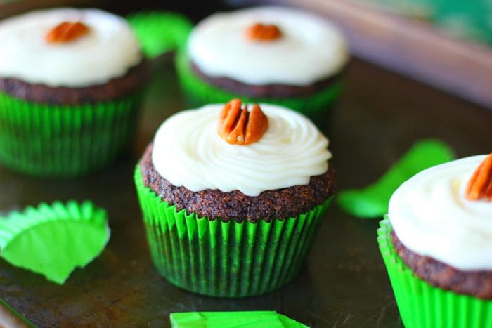 Cream Cheese Frosted Chocolate Zucchini Cupcakes1
