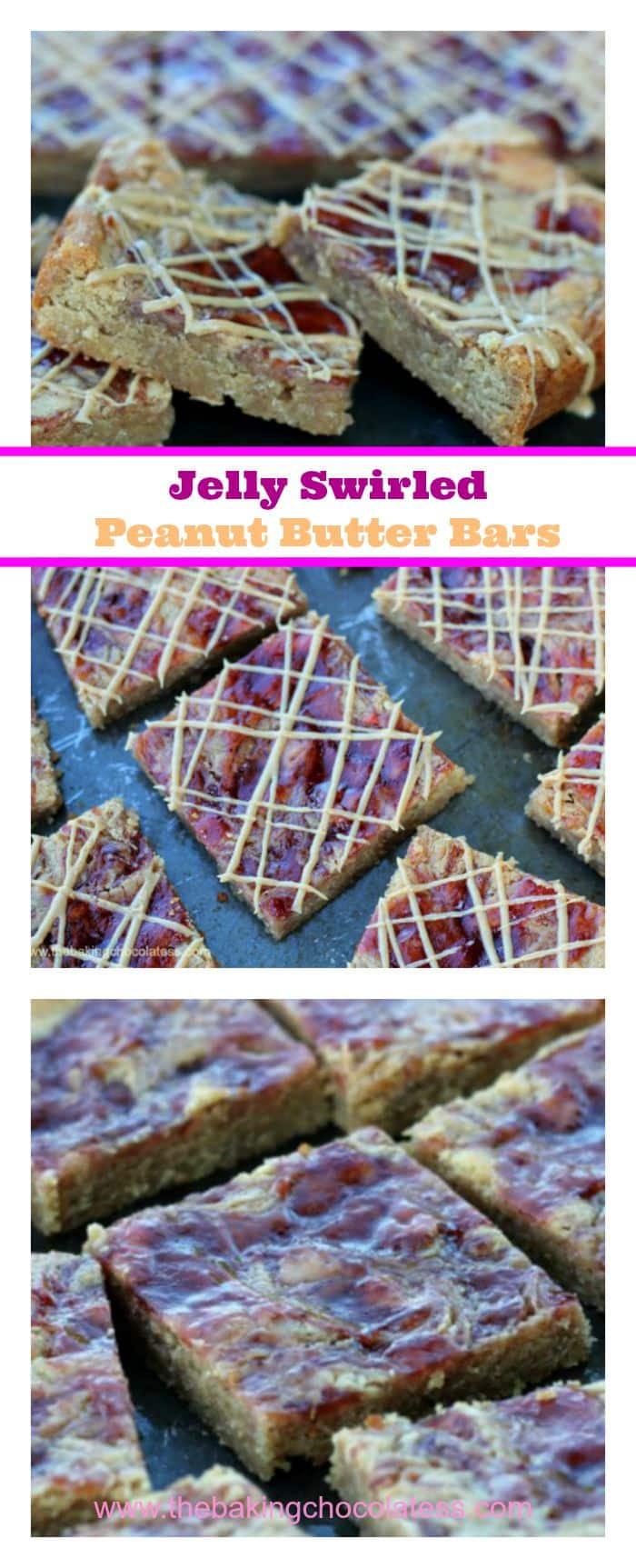 Jelly Swirled Peanut Butter Bars