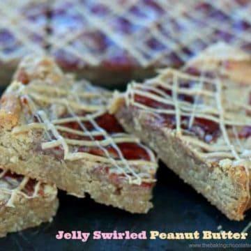Jelly Swirled Peanut Butter Bars