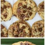 Nutella Marbled Chocolate Chip Cookies