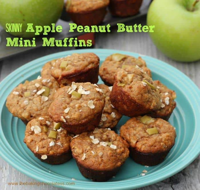 Skinny Apple Peanut Butter MIni Muffins