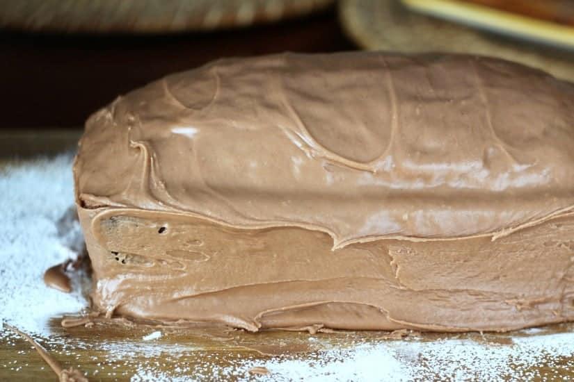 Banana Pound Cake & Milk Chocolate Glaze
