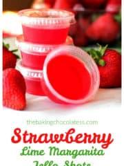 Strawberry Lime Margarita Jello Shots