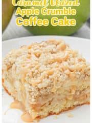 Caramel Glazed Apple Crumble Coffee Cake