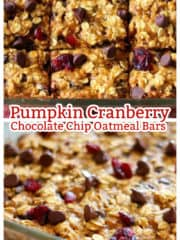 These Pumpkin Cranberry Chocolate Chip Oatmeal Bars