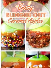Easy 'Blinged Out' Caramel Apples