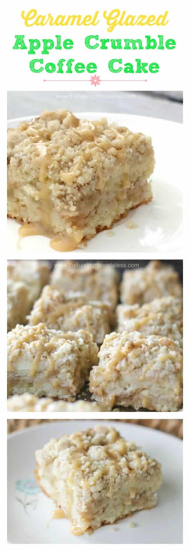 Caramel Glazed Apple Crumble Coffee Cake