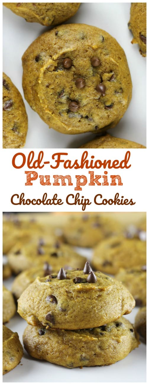 Old-Fashioned PumpkinChocolate Chip Cookies -  Old-Fashioned PumpkinChocolate Chip Cookies like Grandma bakes! #pumpkin #cookies #chocolate chip #fall baking