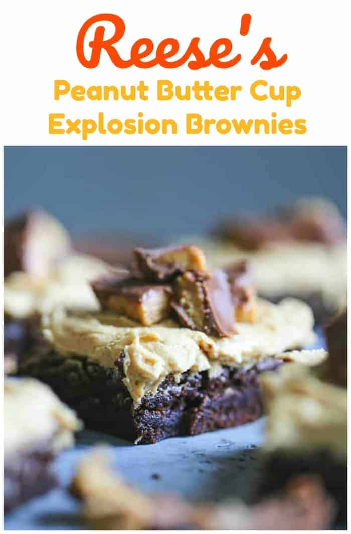 Reese\'s Peanut Butter Cup Explosion Brownies