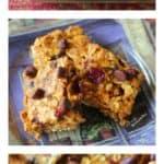 Pumpkin Cranberry Chocolate Chip Oatmeal Bars