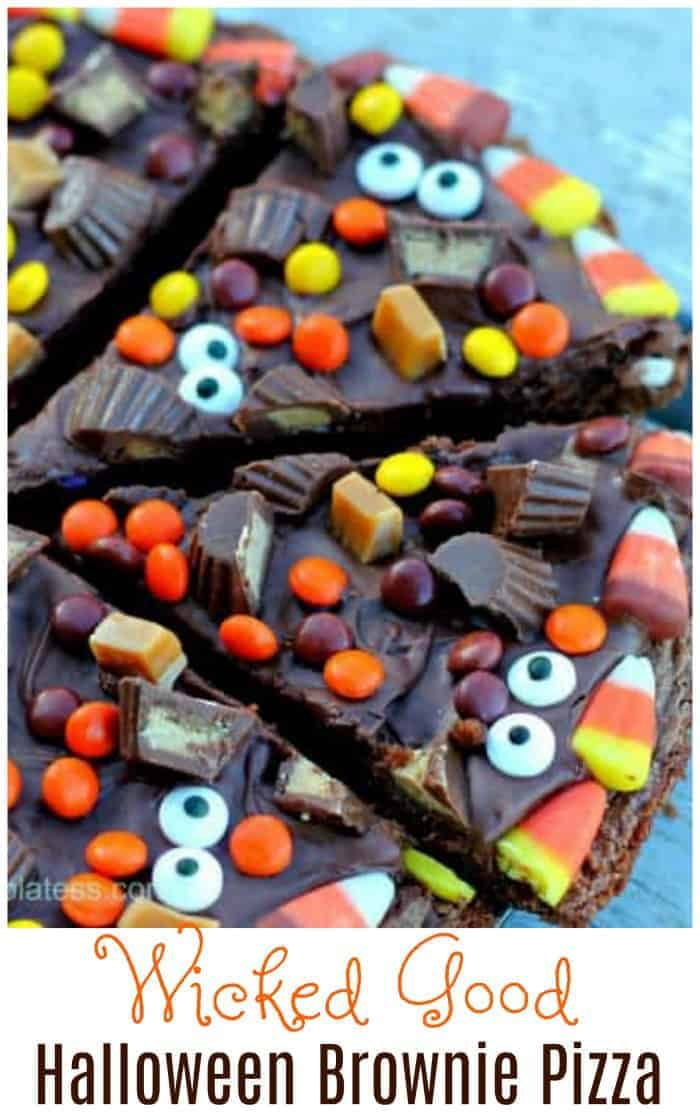 Wicked Good Halloween Brownie Pizza