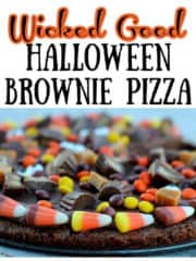 Wicked Good Brownie Pizza