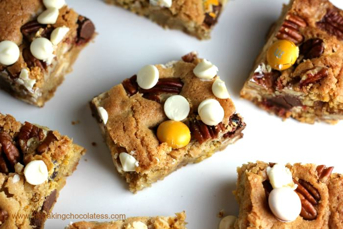Pecan Pie M&M Blondies