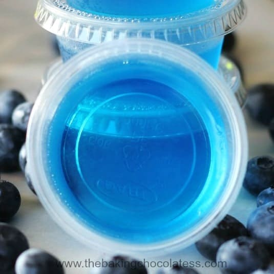 Blueberry Jello Shots