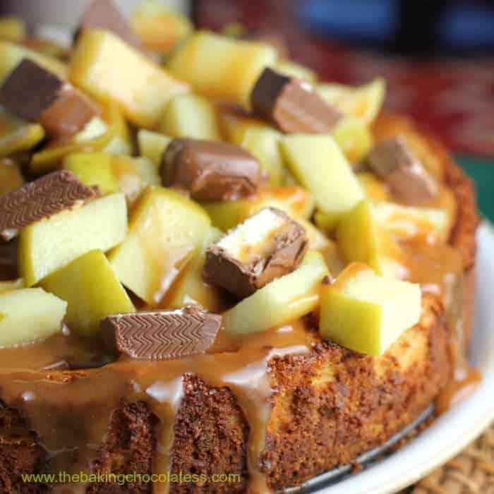 Milky Way Caramel Apple Cheesecake