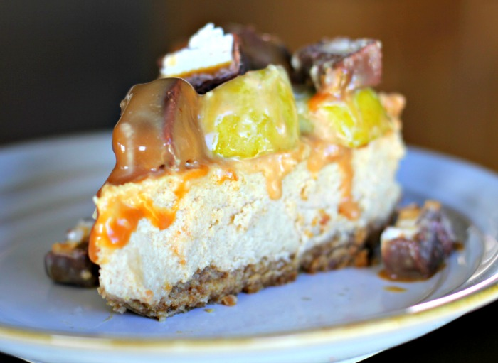 Milky Way Caramel Apple Cheesecake