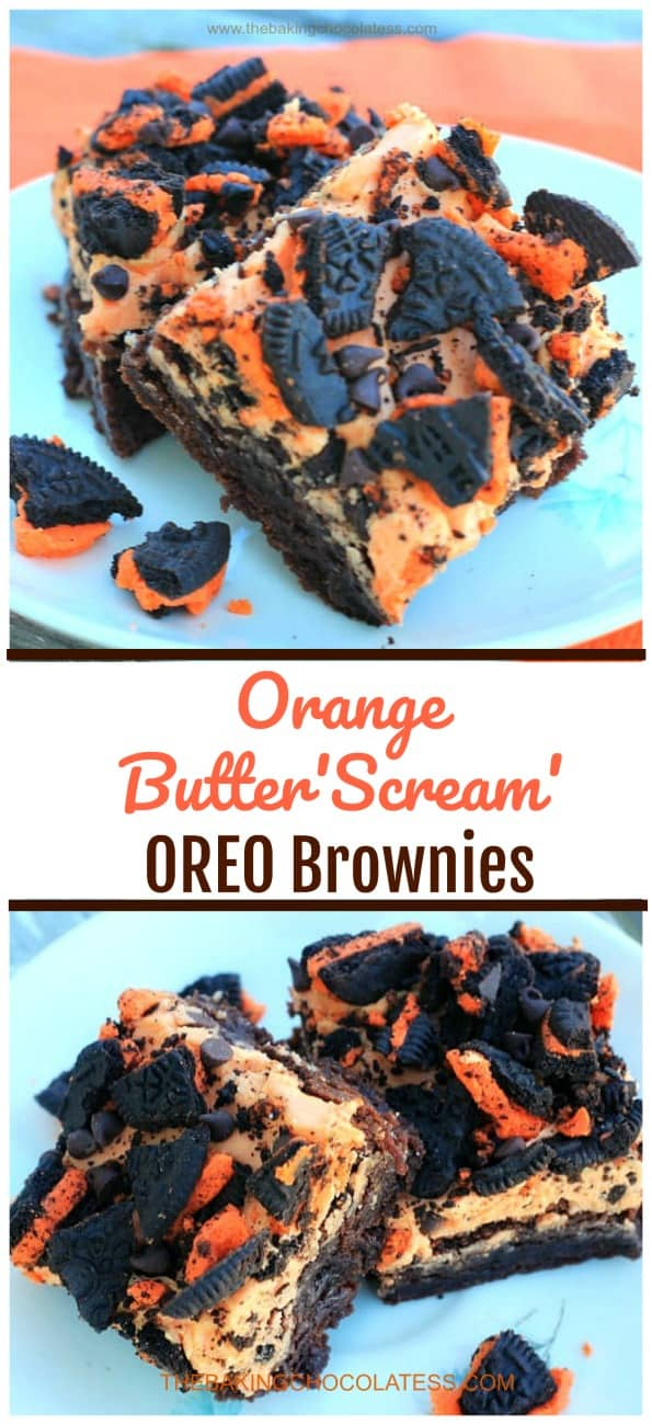 Orange Butter\'Scream\' OREO Brownies