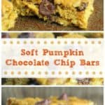Soft Pumpkin Chocolate Chip Bars