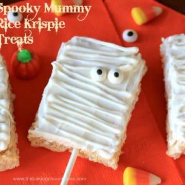 Spooky Mummy Rice Krispie Treats